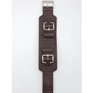 Guess Guess Saddle Up I85553G1 Horlogeband bruin croco lederen band 24 mm