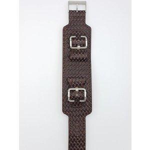 Guess Guess Saddle Up I85553G1 Horlogeband bruin croco lederen band 24 mm