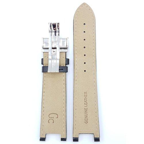 Guess Collection HorlogeBand X72005G2S Sport Chiq originele zwart lederen band 22mm 46002G
