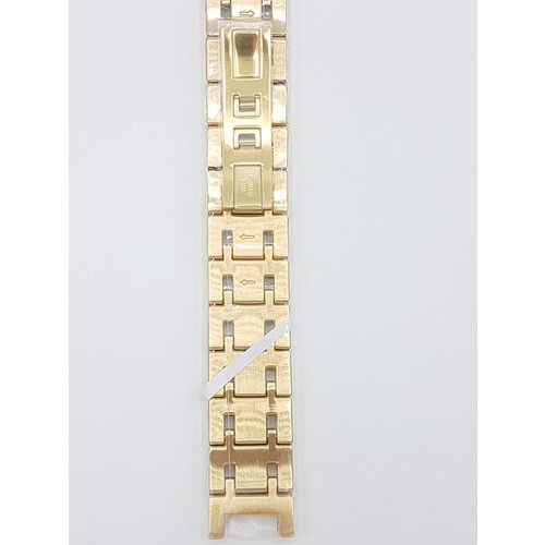 Guess Collection Horlogeband GC 34000G1 goudstalen horlogebandje 18mm doublé origineel