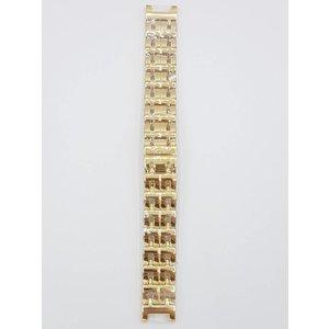 Guess Collection Coleção Guess 34000G1 pulseira de relógio de aço inoxidável pulseira doublé 18 mm