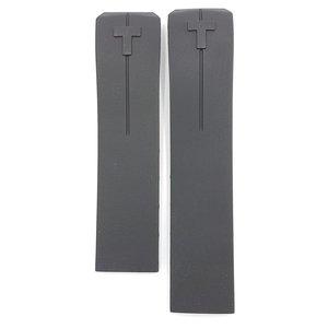 Tissot Tissot T013420A & T047420A Correa De Reloj Negro Silicona 21 mm
