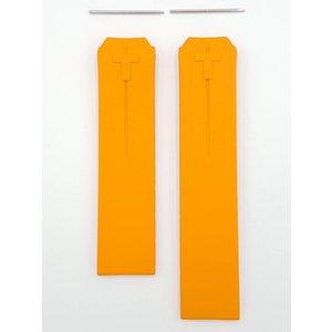 Tissot Bande de montre Tissot T-Touch Z253 / 353 Bracelet en caoutchouc orange T610014615 20 mm
