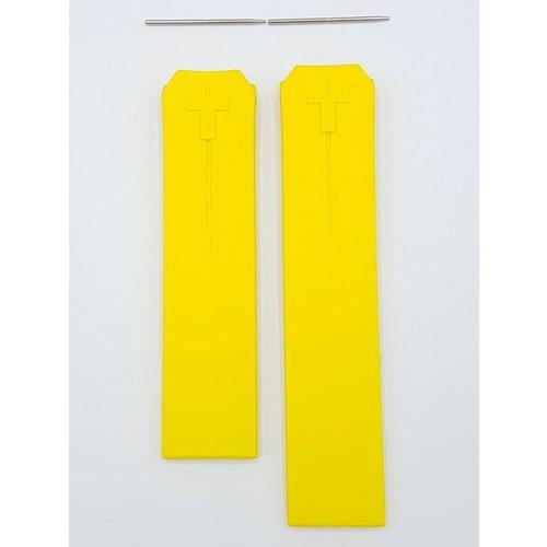 Tissot Tissot T-Touch Nascar Z252 / faixa de relógio 352 Z253 / 353 pulseira de borracha amarela 20 mm