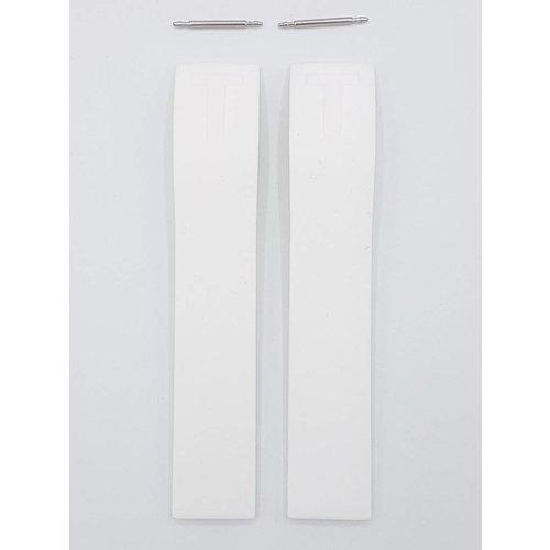 Tissot Tissot PRC-100 T008217 Uhrenarmband 17 mm Weiß Silikonband