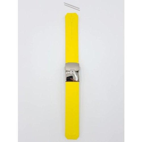 Tissot Tissot Z253 / Z353 - Nascar Cinturino Dell'Orologio Giallo Silicone 20 mm