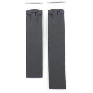 Tissot Tissot T036417A Uhrenarmband Schwarz Silikon 20 mm