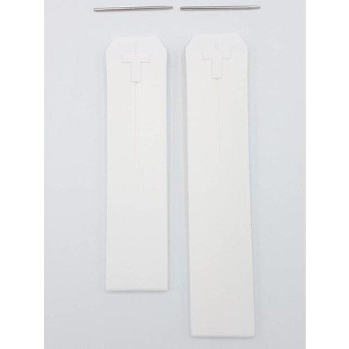 Tissot Tissot Z353 & Z253 Cinturino Dell'Orologio Bianco Silicone 20 mm