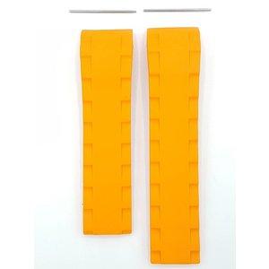 Tissot Bande de montre Tissot Sea-Touch T026420 A Bracelet en caoutchouc orange 22 mm T-Touch
