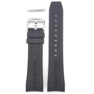 Tissot Tissot T066427A & T066414 Seastar 660 Uhrenarmband Schwarz Silikon 23 mm