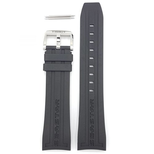 Tissot Tissot T066427A & T066414 Seastar 660 Watch Band Black Silicone 23 mm
