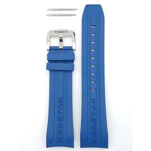 Tissot Tissot T066427A Seastar 1000 Horlogeband Blauw Siliconen 23 mm