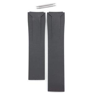 Tissot Tissot T024417 & T024427 Veloci T Uhrenarmband Schwarz Silikon 22 mm
