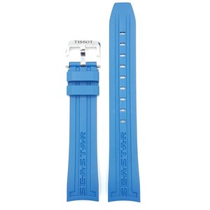 Tissot Tissot T066407A Seastar 1000 Uhrenarmband Blau Silikon 19 mm