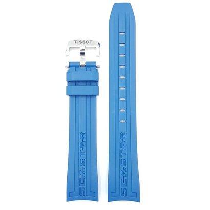 6950a529afc Tissot Assista Strap Tissot Estrela Do Mar 1000 T066407 Faixa De Silicone  Azul 19mm T066.