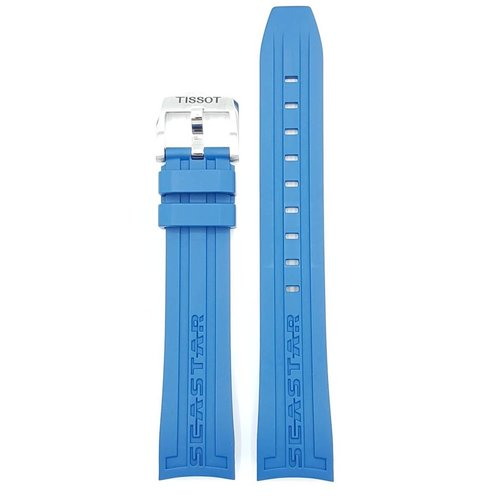 Tissot Tissot T066407A Seastar 1000 Watch Band Blue Silicone 19 mm