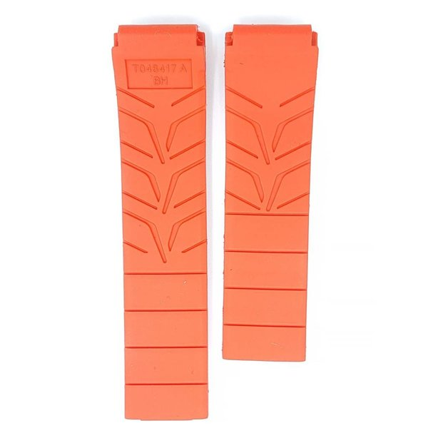 T048427A Black Rubber Band Strap w// Pins Original Tissot T-Race Men/'s T048417A