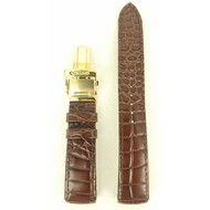Seiko Original Seiko Premier Brown Leather Watch Band 5D88-0AA0 Gold Buckle SNQ118