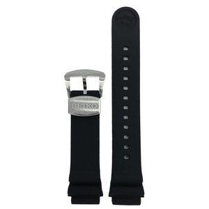 Seiko Seiko Zimbe Sumo 6R15-03X0 correa de reloj de silicio negro 20 mm SPB055J1 Prospex