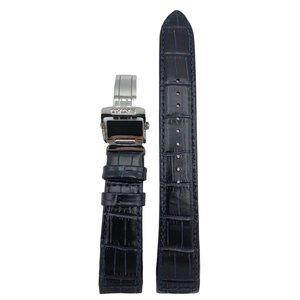 Seiko Bracelet de montre SNP126P1 Bracelet en cuir bleu LOC8 21 mm Seiko Premier Novak Djokovic
