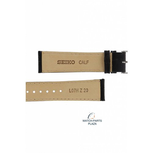 Seiko Horlogeband voor Seiko SRP769 / SRPA27 Zwart lederen band 4R35-00P0, 00Z0 Classic L07H