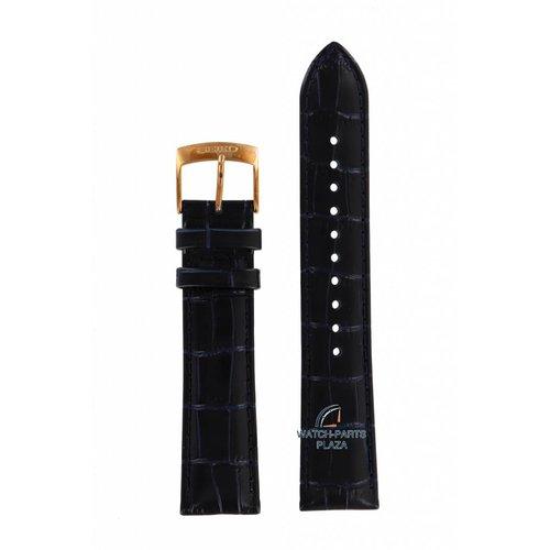 Seiko Seiko 5M84-0AC0 Watch Band SRN062 Blue Leather