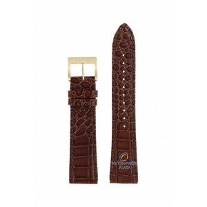 Seiko Seiko SRP024 Banda de reloj 4R15-00C0 Hebilla de cuero marrón dorada