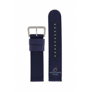 Seiko Seiko 7S36-03J0 Horlogeband canvas blauw 22 mm SNZG11K1