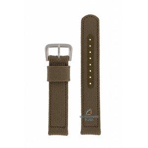 Seiko Seiko 7S26 3060, 00D0 Groene Canvas horlogeband 18 mm SNX431K1
