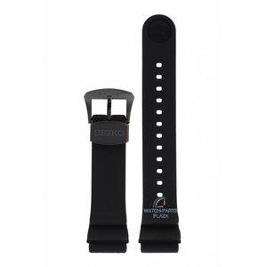 Seiko Bracelet de montre Seiko SRPC49 noir Turtle 4R36-06L0 boucle noire sillicon 22 mm