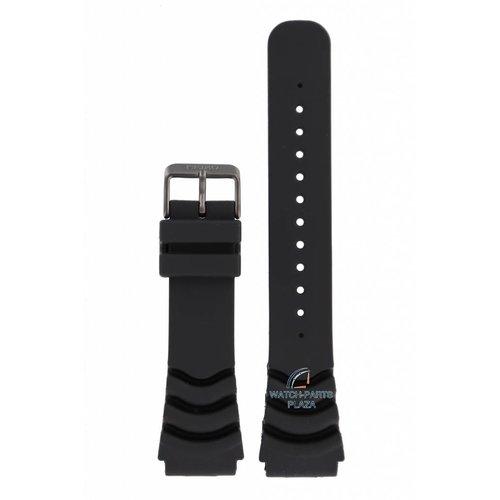 Seiko Seiko SNZG87K1, SRPA11K1 correa de reloj negro 5 Deportes 4R36 y 7S36 22mm