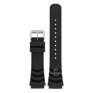 Seiko Seiko 4R36 en 7S36 Horlogeband zwart 5 Sports Diver 22mm