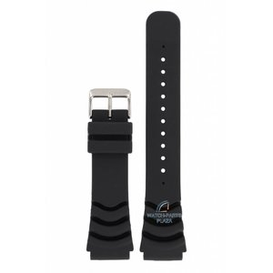Seiko Seiko 4R36 y 7S36 correa de reloj negro 5 Sports Diver 22mm