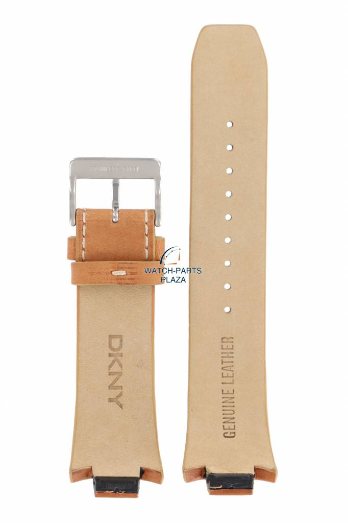 798dd89c2 DKNY Watch Band for DKNY NY1106 Light Brown Leather Strap NY 1106 12mm