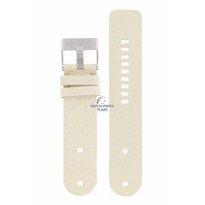 Diesel Diezel DZ-2077 Watch Band White Leather 26 mm