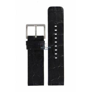 DKNY DKNY NY-3396 horlogeband zwart leer 24 mm