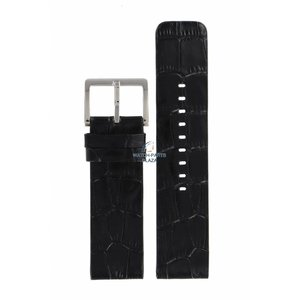 DKNY DKNY NY-3396 Watch Band Black Leather 24 mm