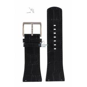 DKNY DKNY NY-3369 horlogeband zwart leer 30 mm