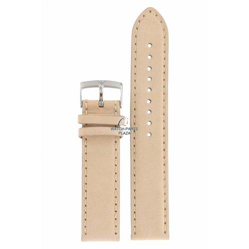 Armani Armani AR-0619/0621 Banda de reloj de cuero beige 20 mm