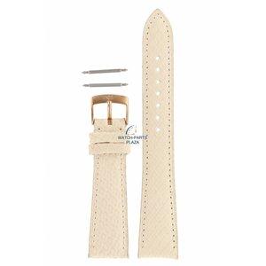 Armani Armani AR-5697 Correa de reloj de cuero blanco 20 mm