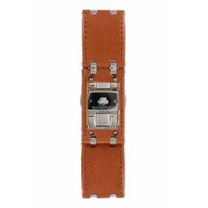 Armani Bracelet de montre Armani AR-5499 en cuir marron 22 mm
