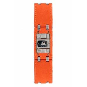 Armani Bracelet de montre Armani AR-5498 en cuir orange 22 mm