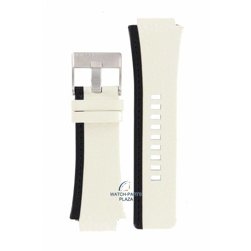 Diesel Diezel DZ-1093 Uhrenarmband aus weißem Leder 22 mm