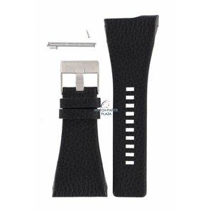 Diesel Diezel DZ-7101 pulseira de relógio de couro preto 38 mm