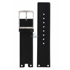 Calvin Klein Bracelet de montre Calvin Klein CK94 en cuir noir 22 mm