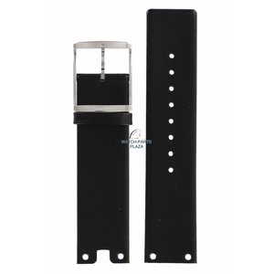 Calvin Klein Calvin Klein CK94 Correa de reloj de cuero negro 22 mm