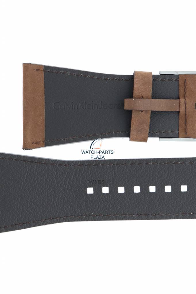 095d8acf2 Calvin Klein Watch Band Calvin Klein K42 CKJ Boundary Brown Leather Strap  38mm K42111