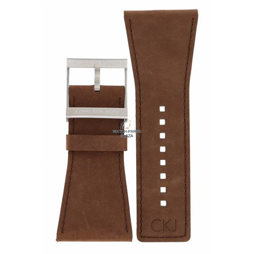 Calvin Klein Calvin Klein CK42 Watch Band Brown Leather 38 mm