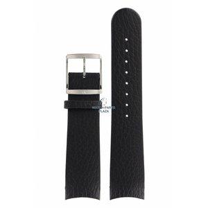 Calvin Klein Calvin Klein CK22 Correa de reloj de cuero negro 22 mm