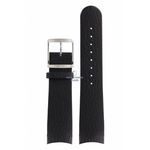 Calvin Klein Calvin Klein CK22 Horlogeband zwart leer 22 mm